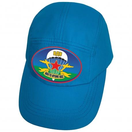 Голубая кепка с термотрансфером ВДВ Никто, кроме нас