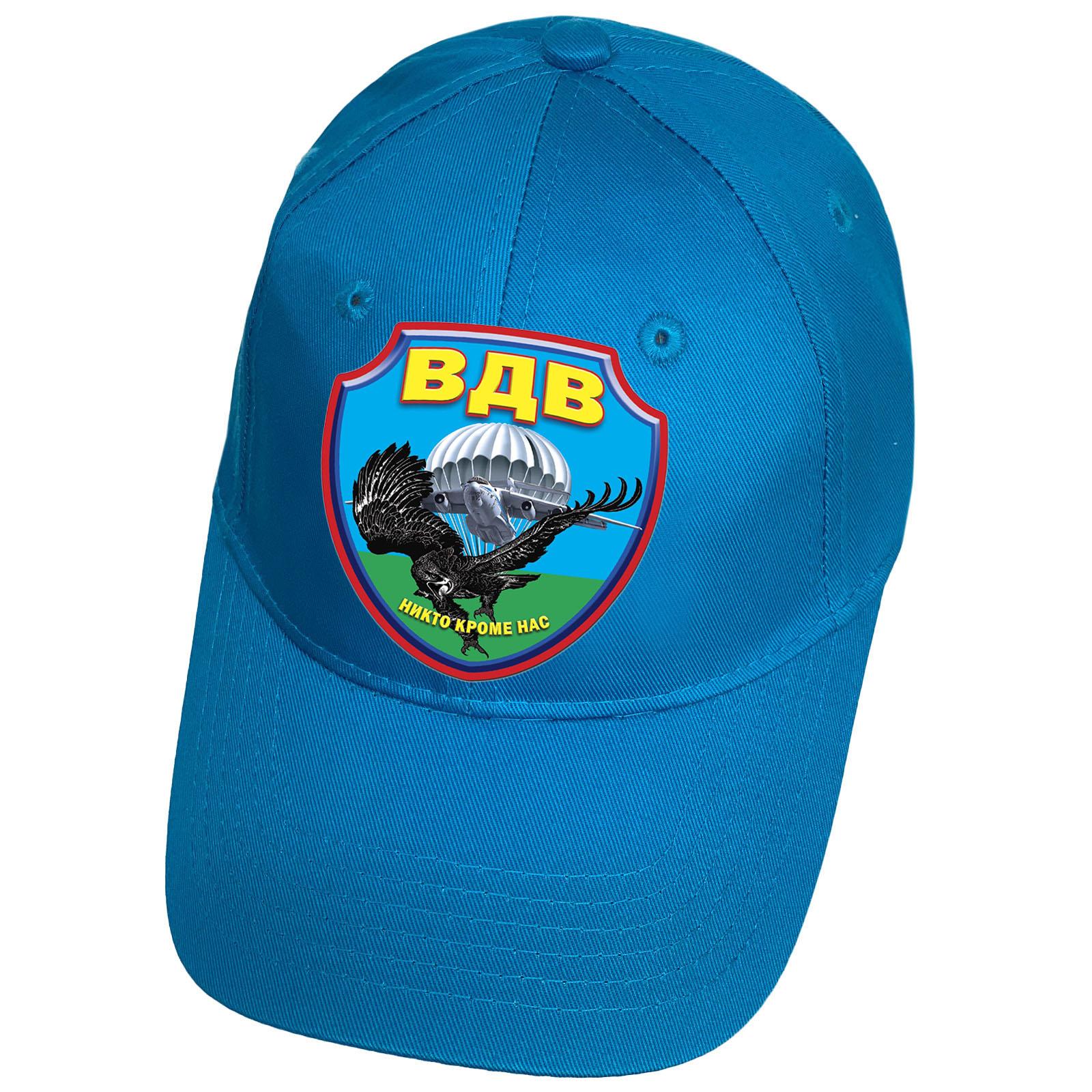 Голубая кепка с термотрансфером ВДВ Орёл
