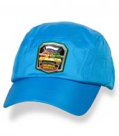 Голубая лаконичная кепка-пятипанелька с термонаклейкой Танковые Войска