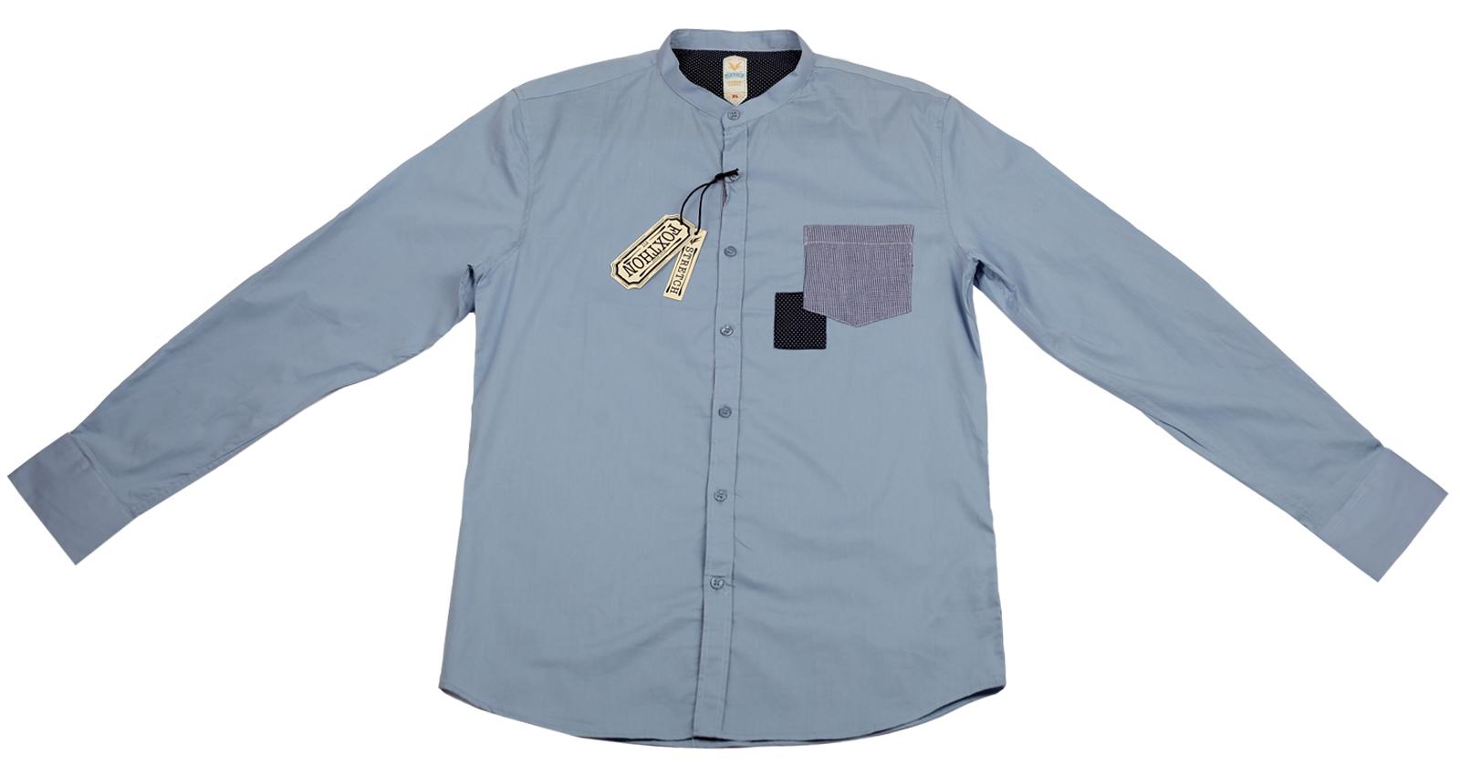 Голубая мужская рубашка Foxthon