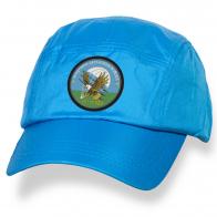 Голубая однотонная кепка с эмблемой 103 гв ВДВ купить оптом