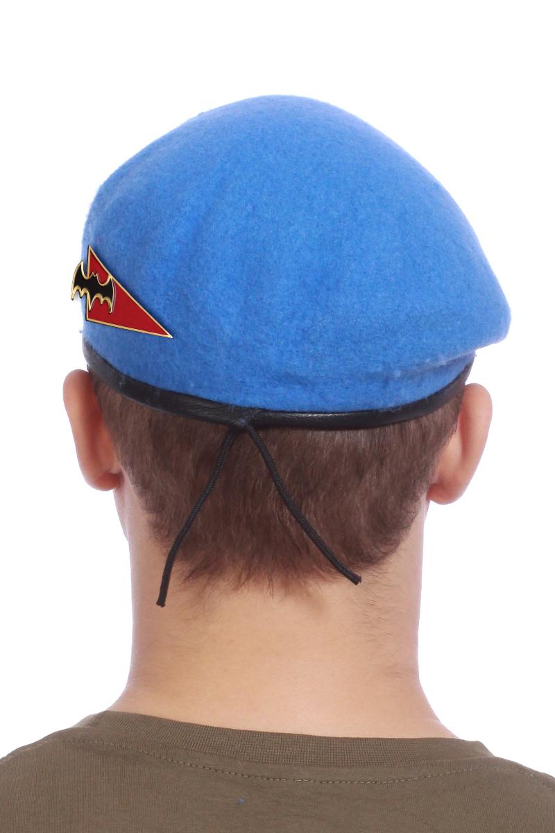 Заказать голубой берет с уголком «Разведка»
