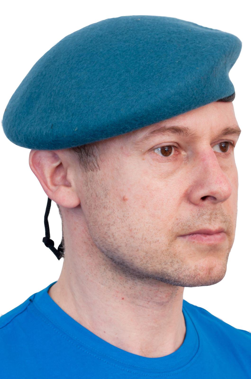 Голубой берет спецназа с околышем по лучшей цене