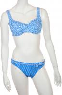 Голубой купальник с белым узором от Olympia.