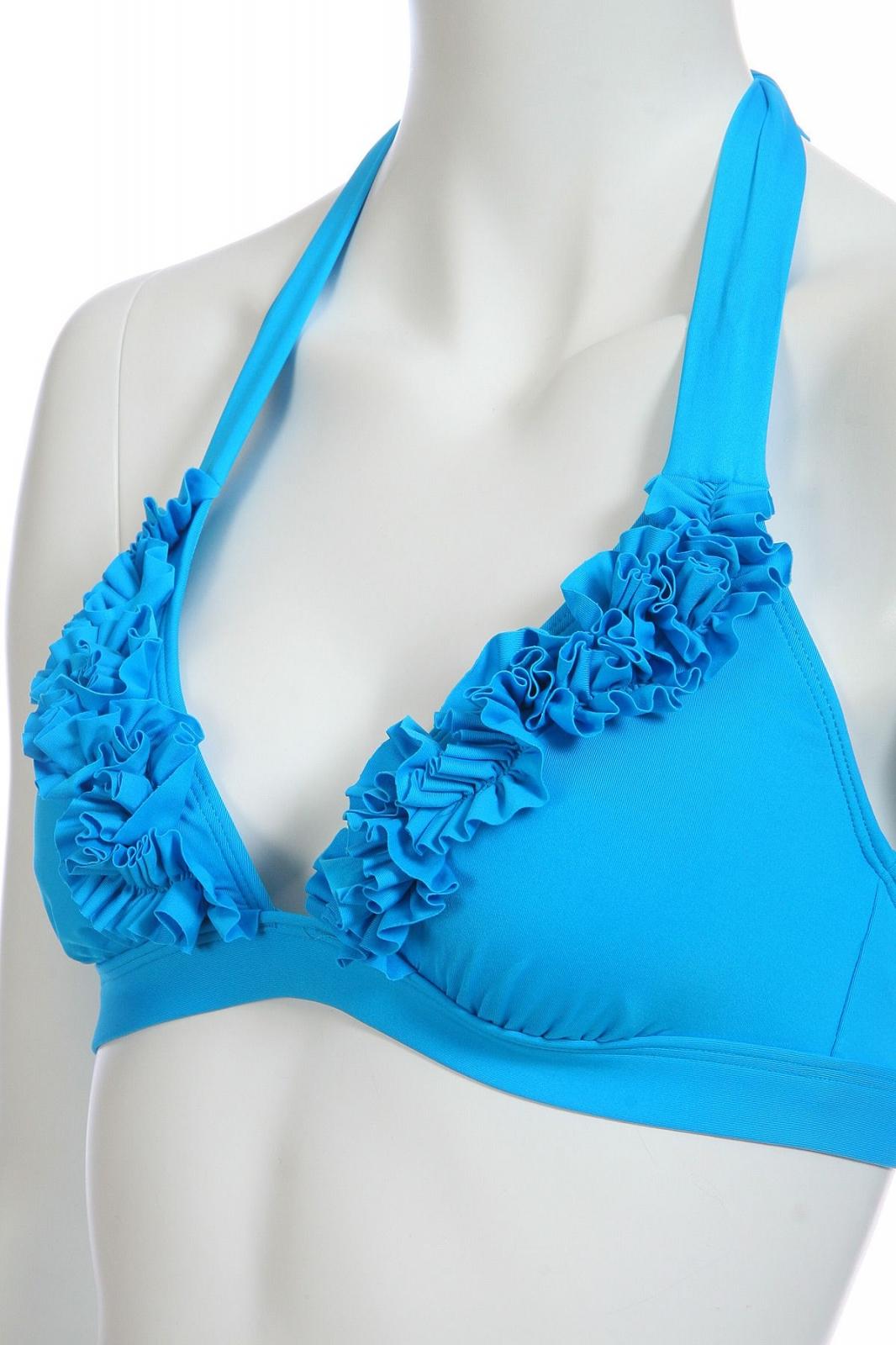 Голубой купальник с юбкой - лиф