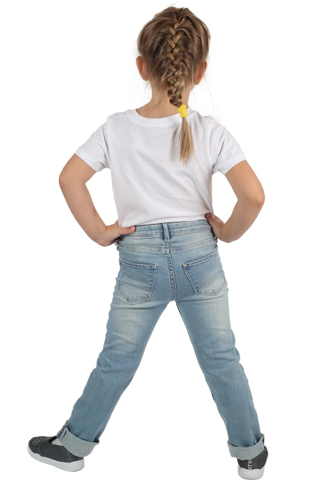 Голубые детские джинсы для девочки
