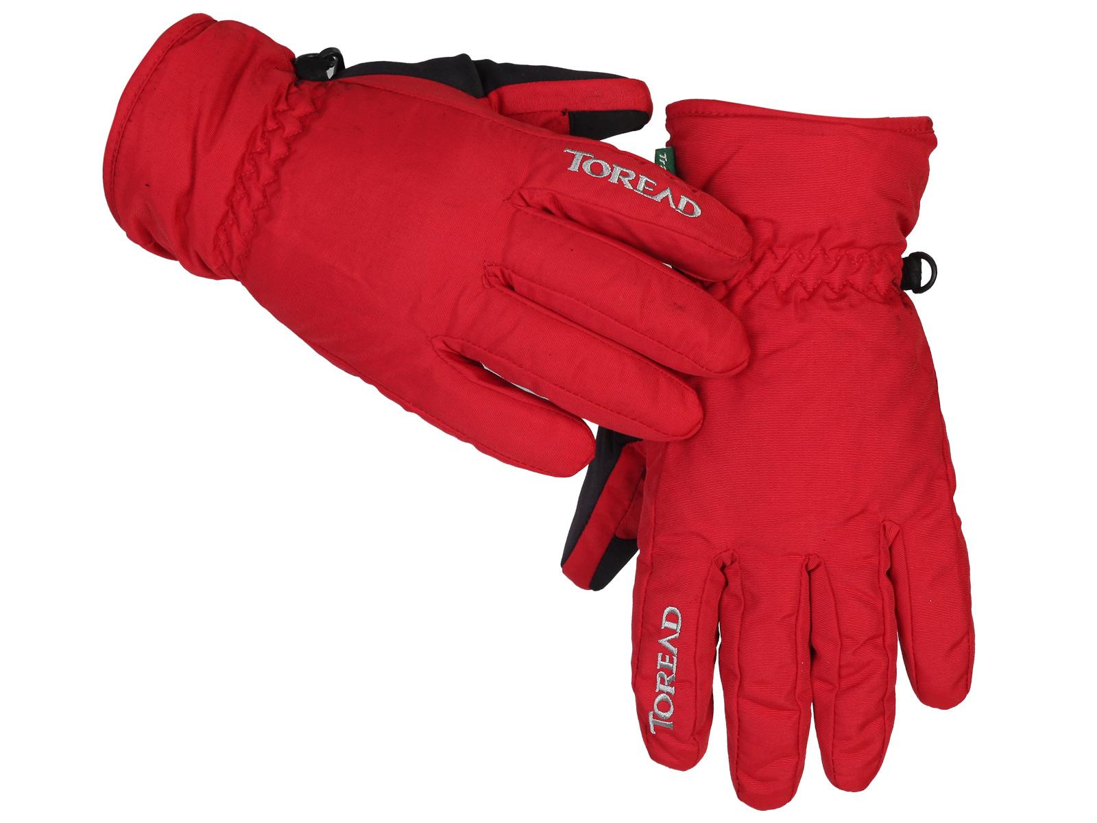 Горнолыжные фирменные перчатки Toread красного цвета