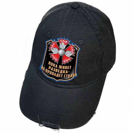 Городская чёрная кепка с термотрансфером