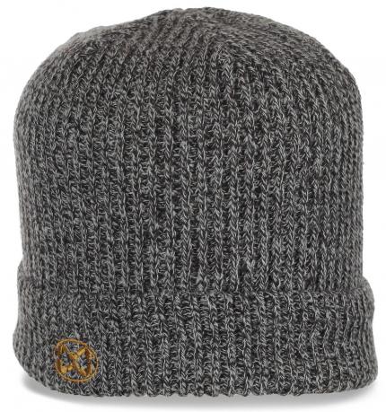 Городская мужская шапка с отворотом