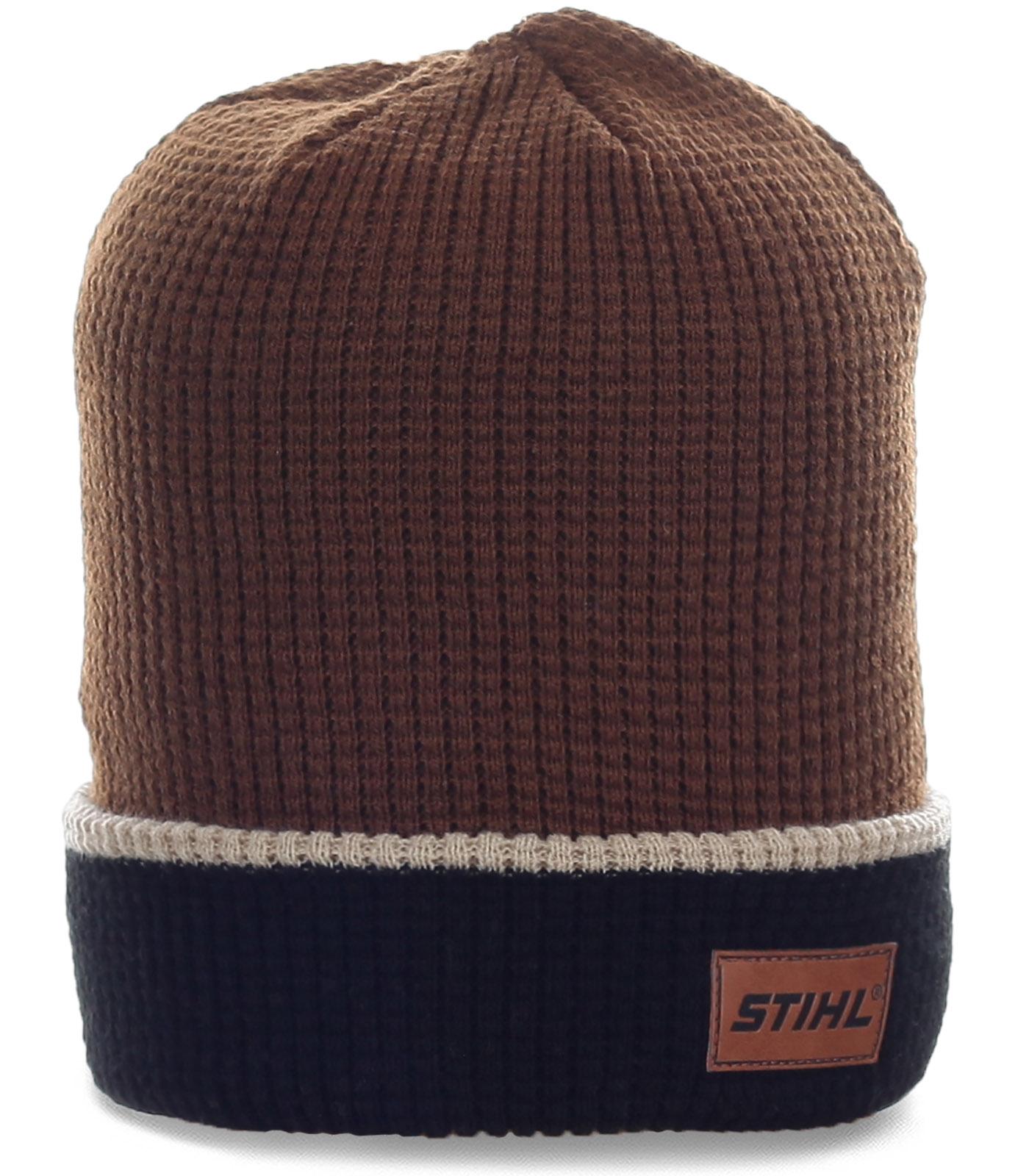 Городская шапка Stihl для модных мужчин. Комфортная модель, в которой 100% тепло