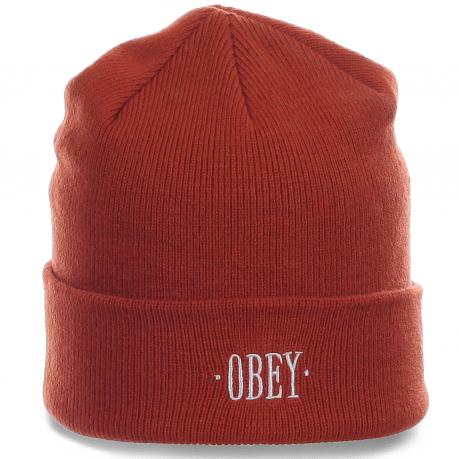 Городская стильная мужская шапка солидного бренда Obey