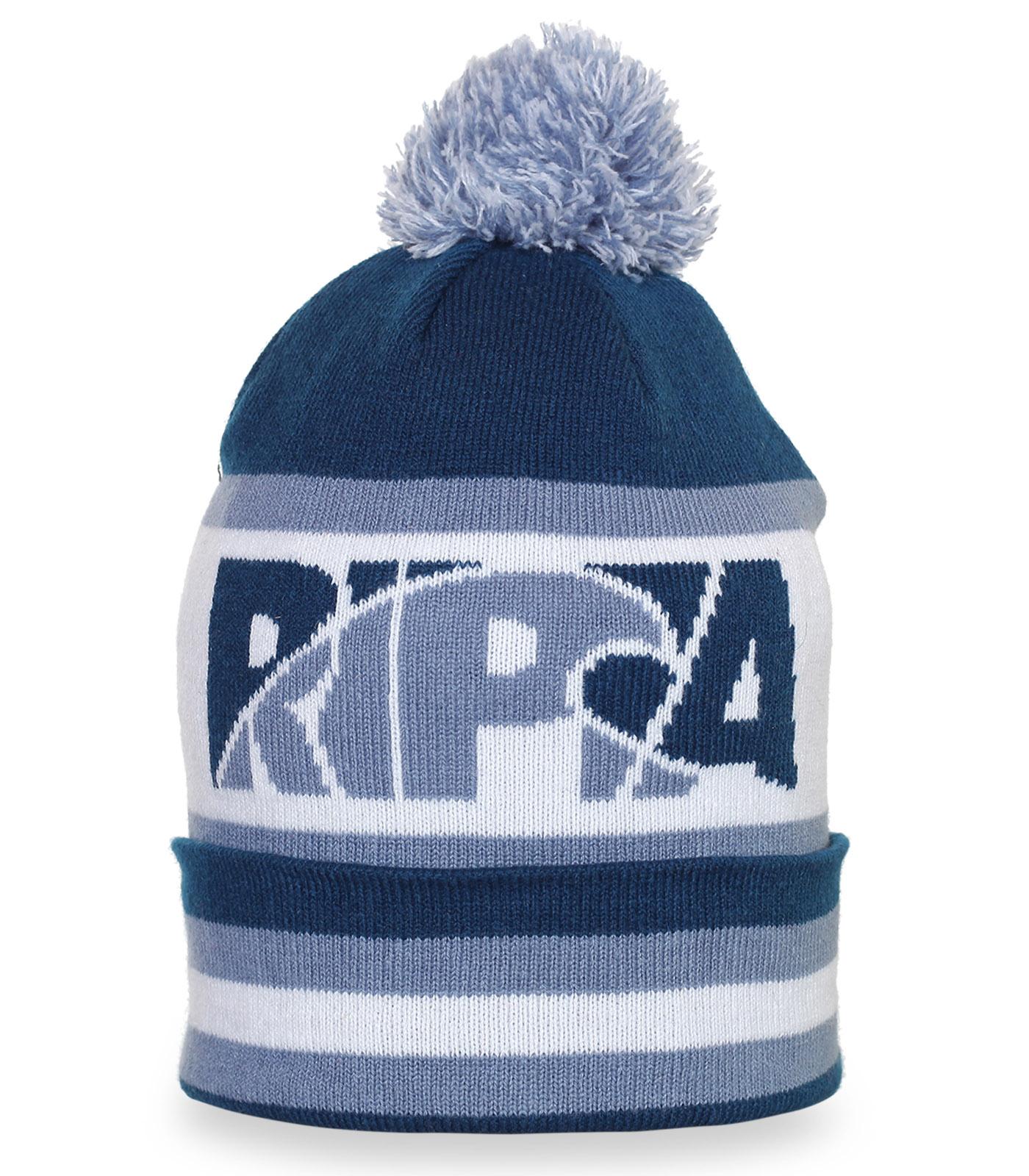 Городская зимняя шапка с помпоном