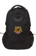 Городской черный ранец-рюкзак с нашивкой РХБЗ