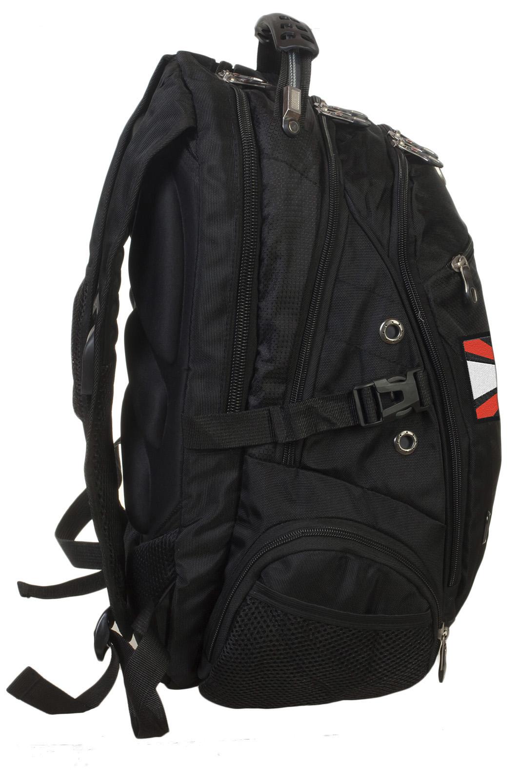 Заказать городской черный рюкзак с эмблемой Артиллерии