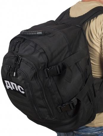 Городской черный рюкзак с нашивкой ДПС - купить в подарок