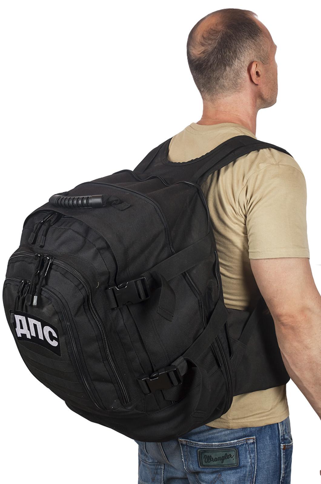 Городской черный рюкзак с нашивкой ДПС - купить по низкой цене