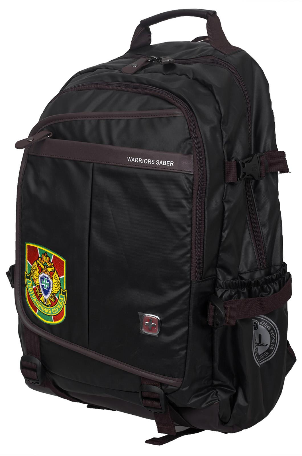 Городской черный рюкзак с нашивкой Пограничной службы - купить онлайн