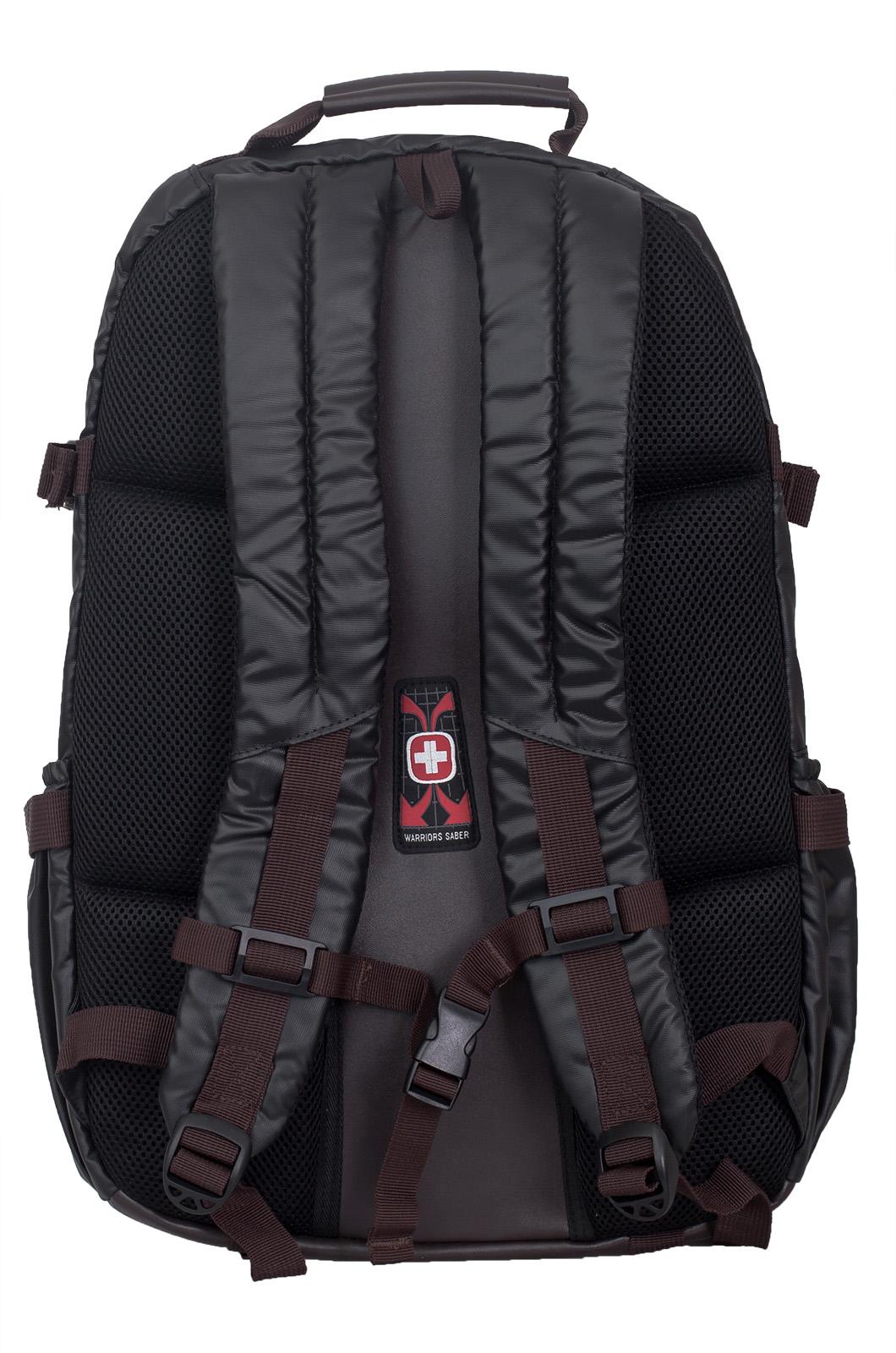 Купить городской черный рюкзак с нашивкой Пограничной службы с удобной доставкой в ваш город