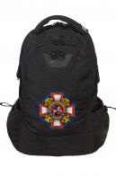 Городской черный рюкзак с нашивкой Потомственный Казак