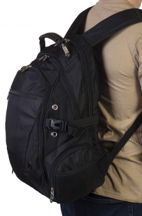 Многофункциональный городской рюкзак черного цвета