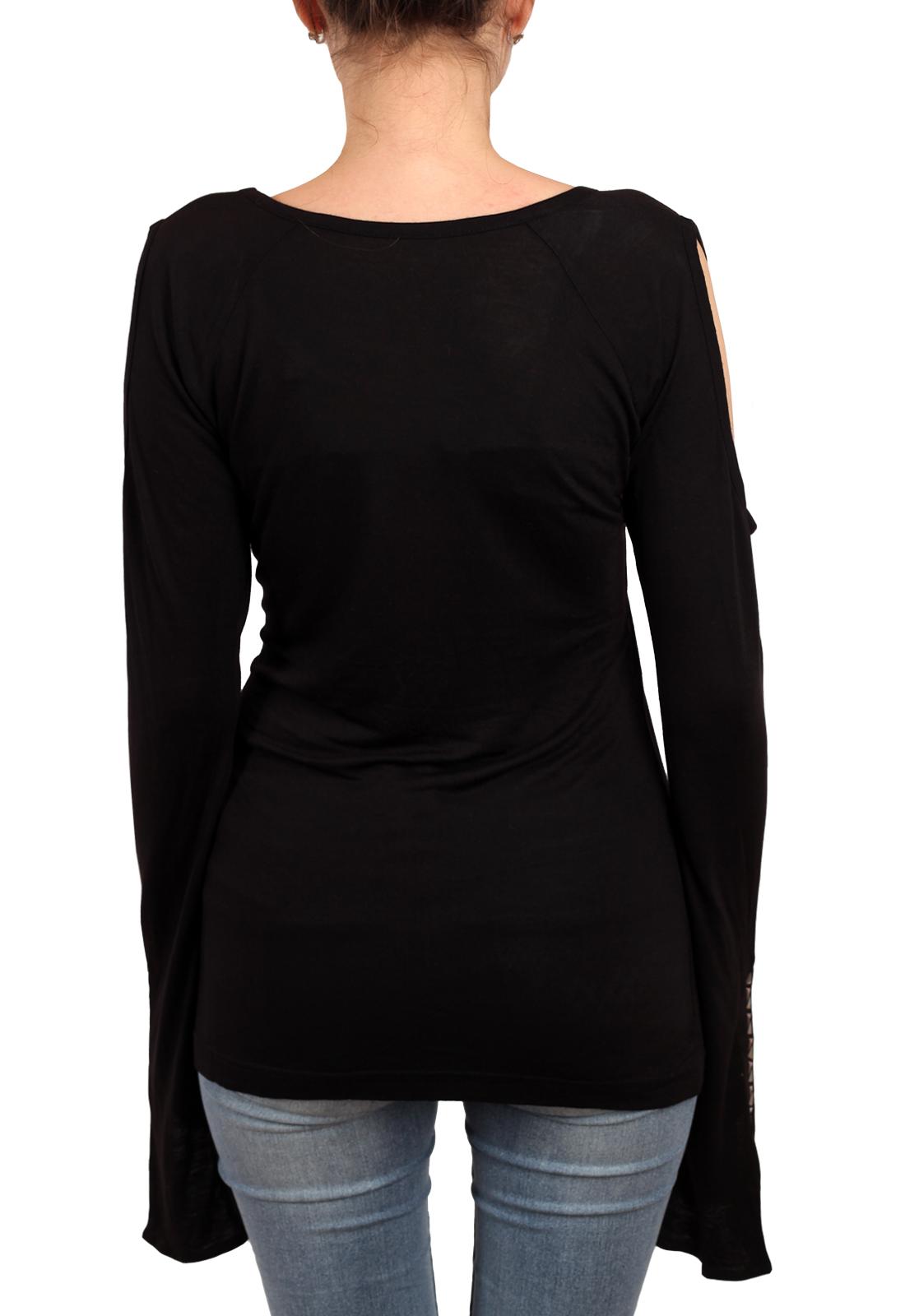 Готичная туника Panhandle Slim. Удлинённые рукава с разрезами в стиле cutout sleeve и отделка декоративными геометрическими элементами