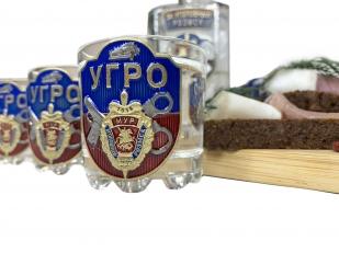 Подарочный графин со стопками Московский Уголовный розыск