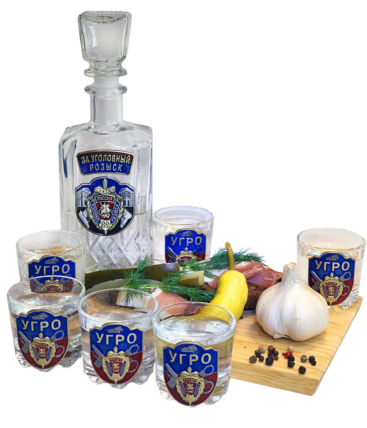 Заказать подарочный набор для алкоголя в дизайне Уголовный Розыск
