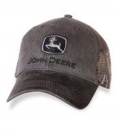 Графитовая мужская бейсболка John Deere.