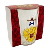 Подарочный граненый стакан Россия