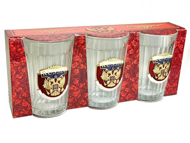 Коллекционные граненые стаканы Russia