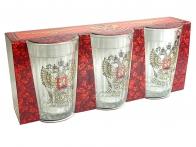 Граненые стаканы с гербом России