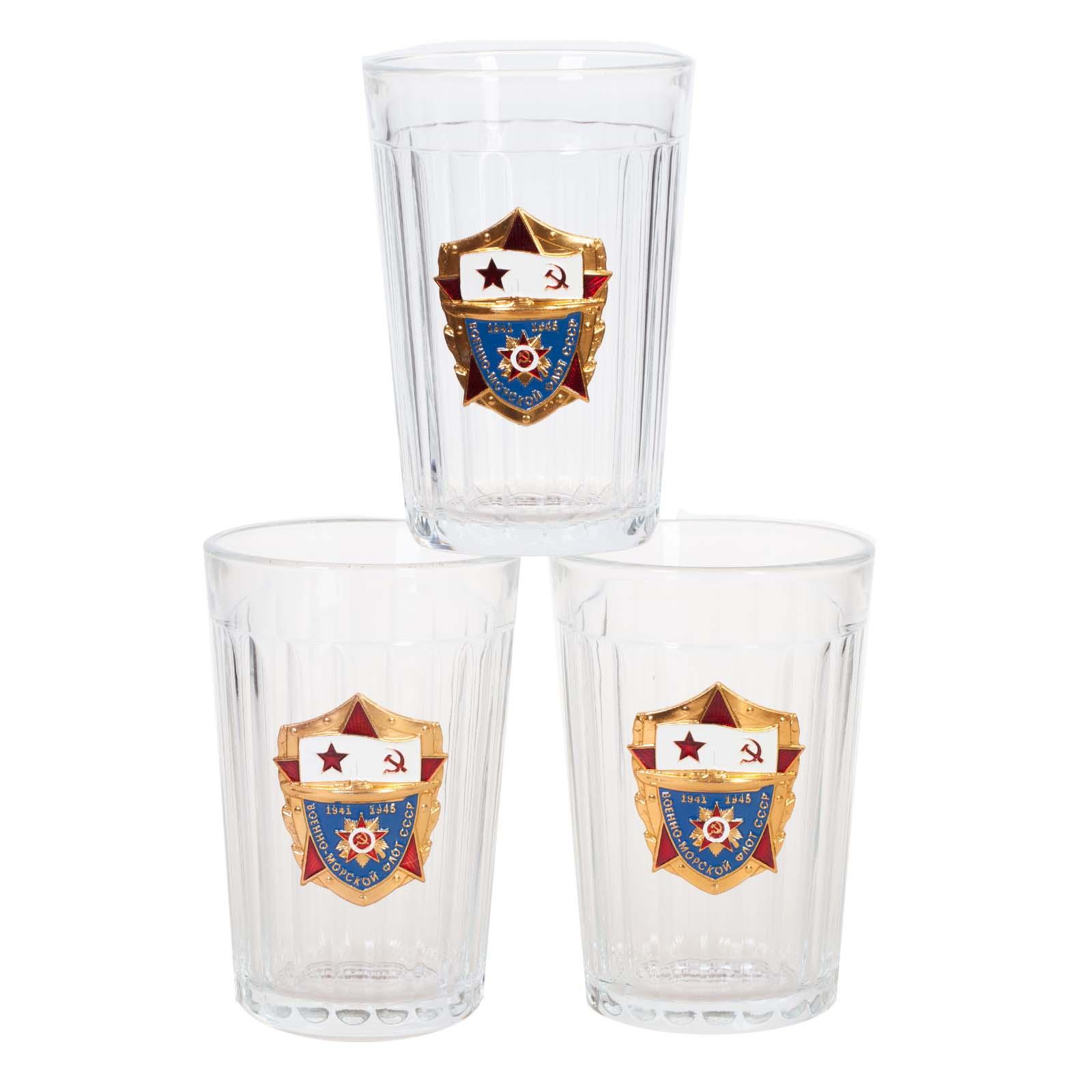 Гранёные стаканы в подарочном наборе ВМФ СССР