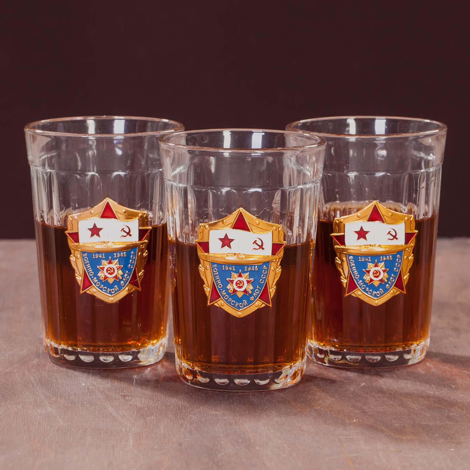 Гранёные стаканы в подарочном наборе ВМФ СССР по лучшей цене