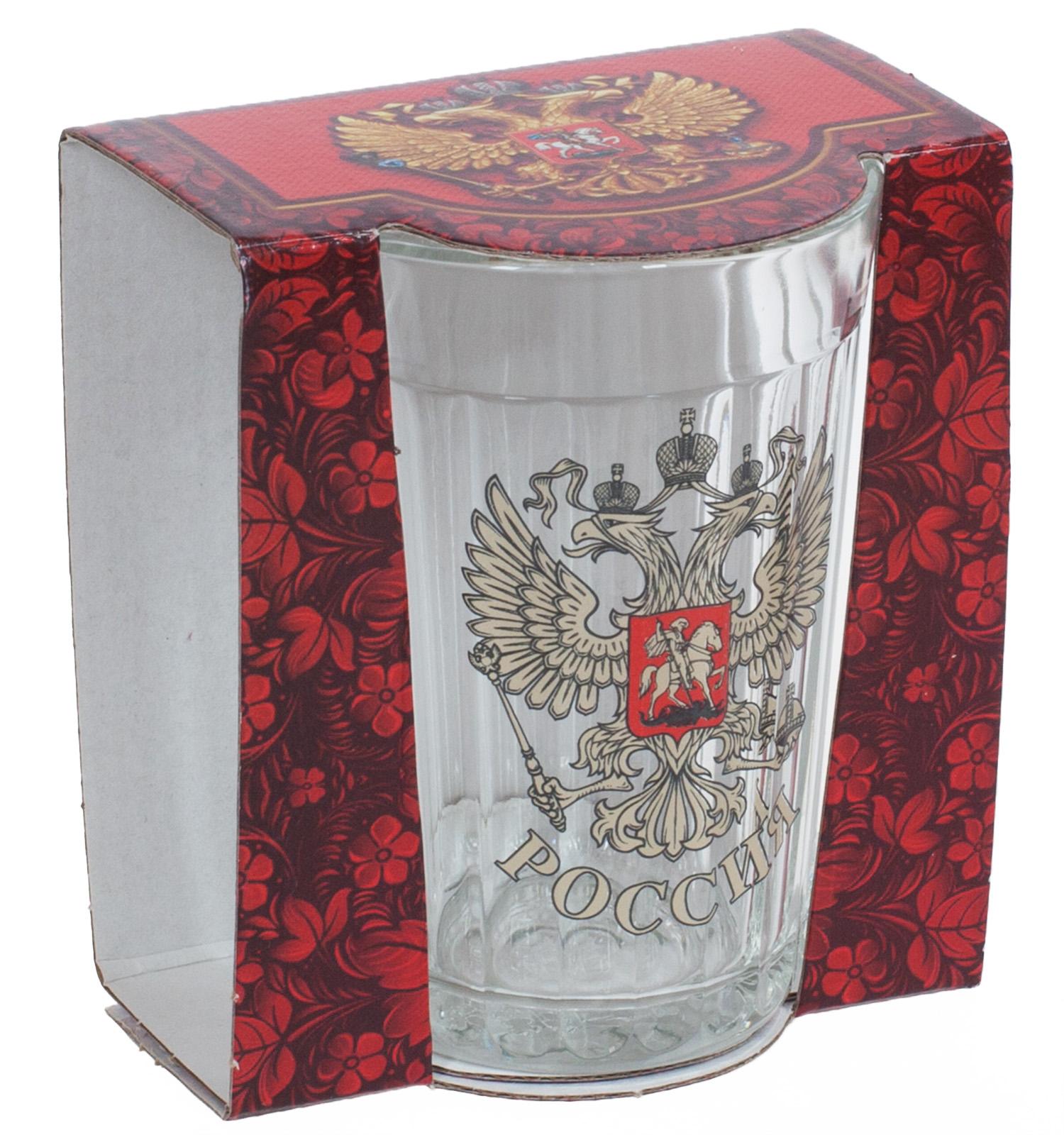 """Гранёный стакан """"Россия"""""""