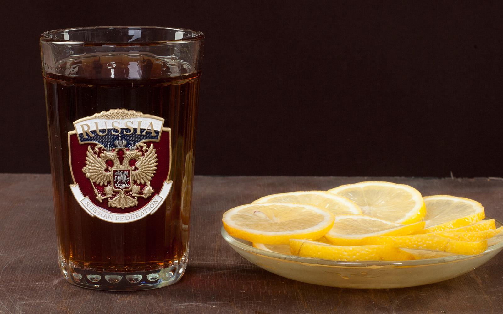 """Купить гранёный стакан """"RUSSIA"""""""