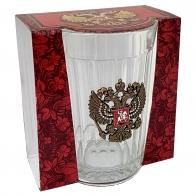 Гранёный стакан с гербом РФ