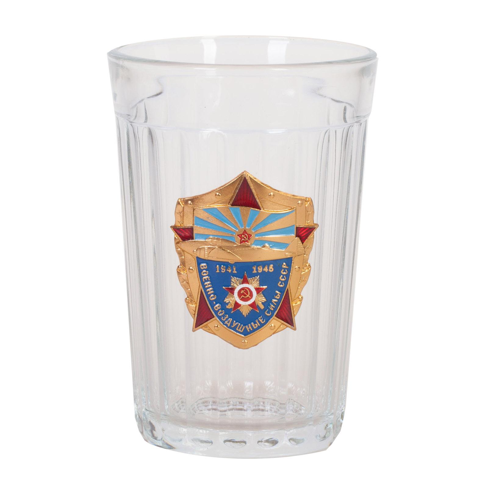 """Гранёный стакан с накладкой """"ВВС СССР"""""""
