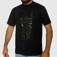 Черная мужская гранж футболка K1X