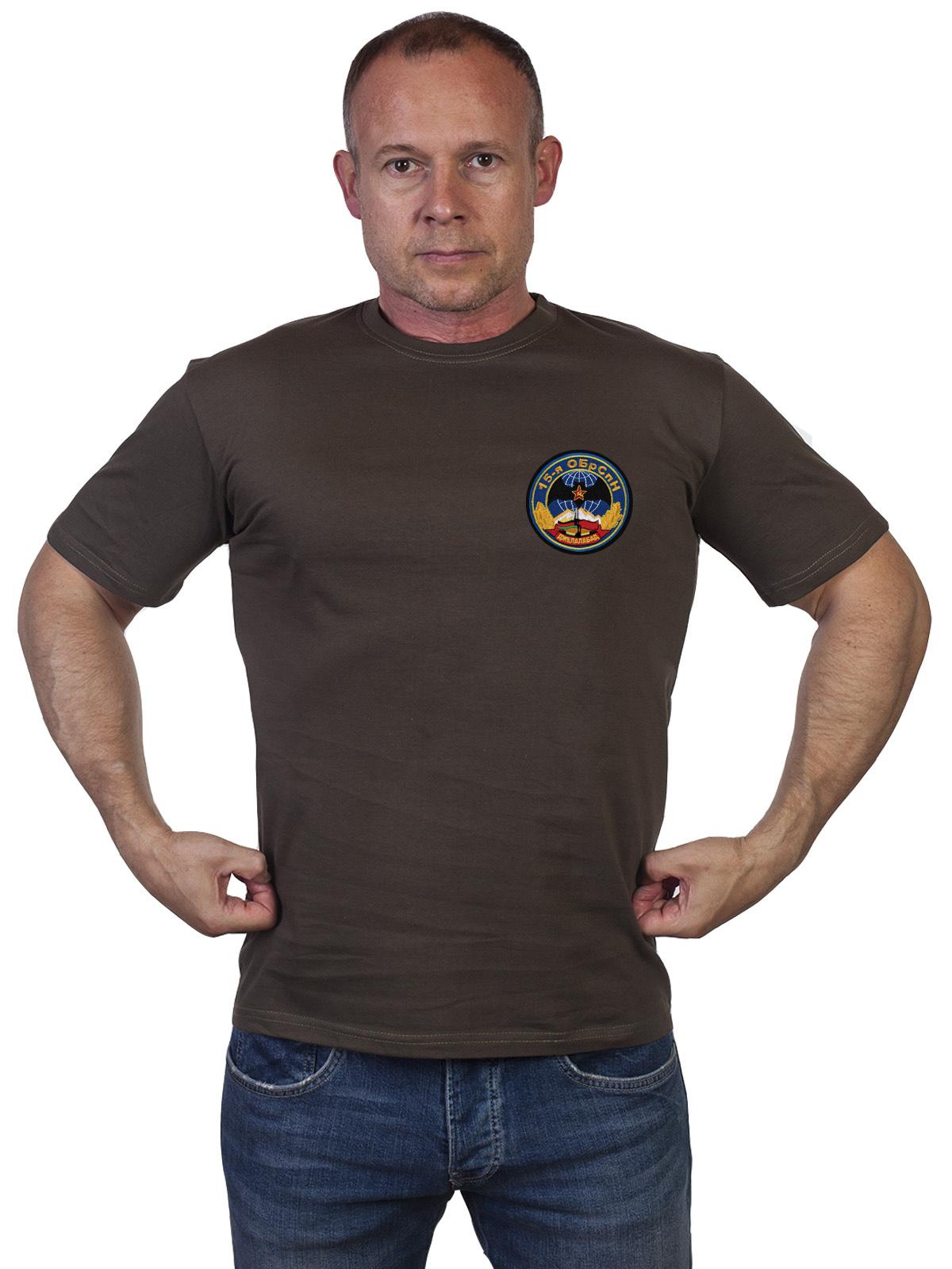 Оливковая мужская футболка 15 ОБрСпН