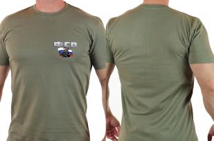 Стильная хаки футболка ФСО.