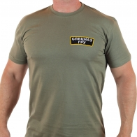 Армейская хаки-футболка с вышивкой Спецназа ГРУ.