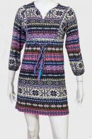 Этно эстетика! Харизматичное платье туника с фольклорными элементами.