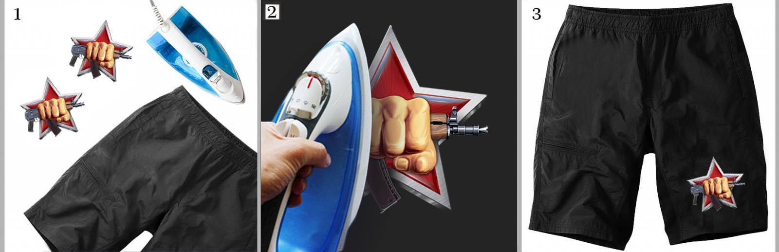 Хитовая наклейка-термотрансфер на футболку Спецназ ВВ РФ - заказать оптом