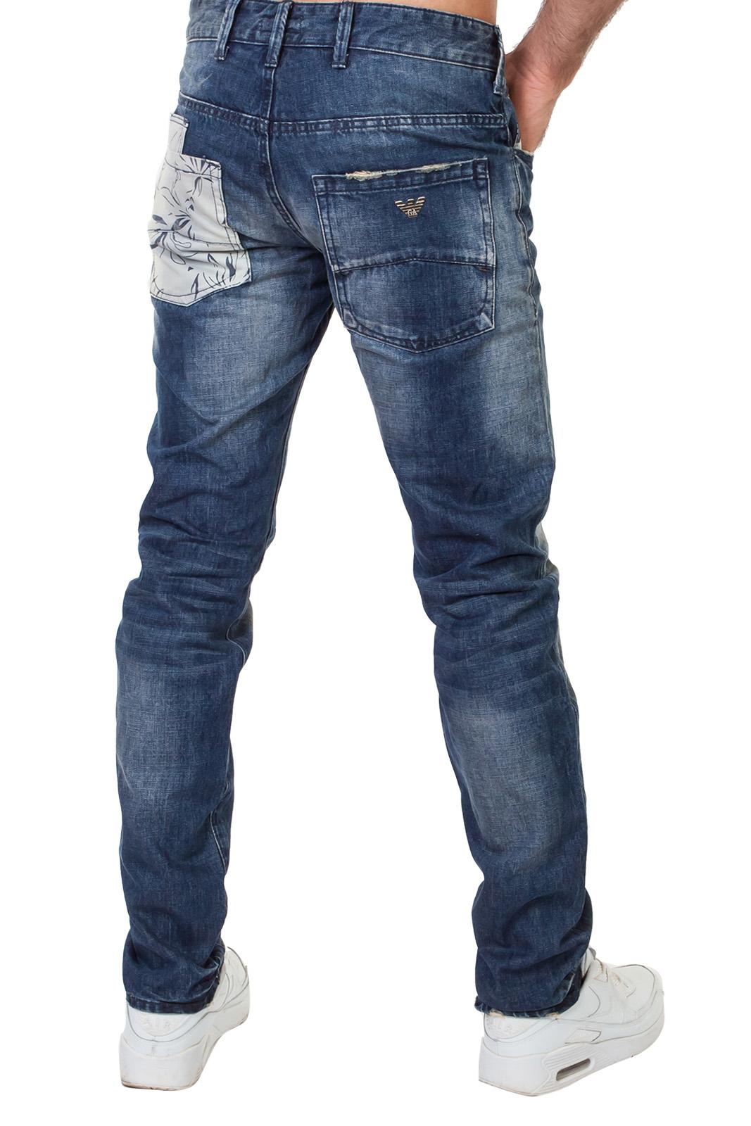 Оригинальные мужские кэжуал джинсы с большими карманами