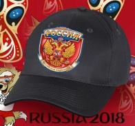 Хлопковая бейсболка РОССИЯ с авторским принтом государственной символики от дизайнеров Военпро. Такой головной убор оценят и болельщики и патриоты. Поторопитесь заказать!