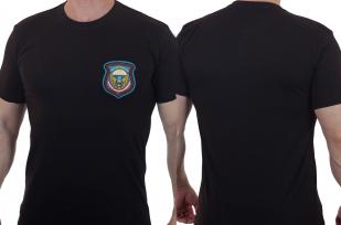 Хлопковая черная футболка с вышитой эмблемой 76 Черниговская дивизия ВДВ - купить по экономичной цене