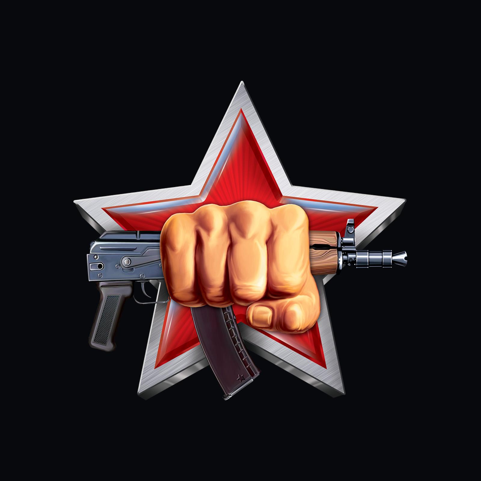 Хлопковая черная футболка Спецназ ВВ РФ