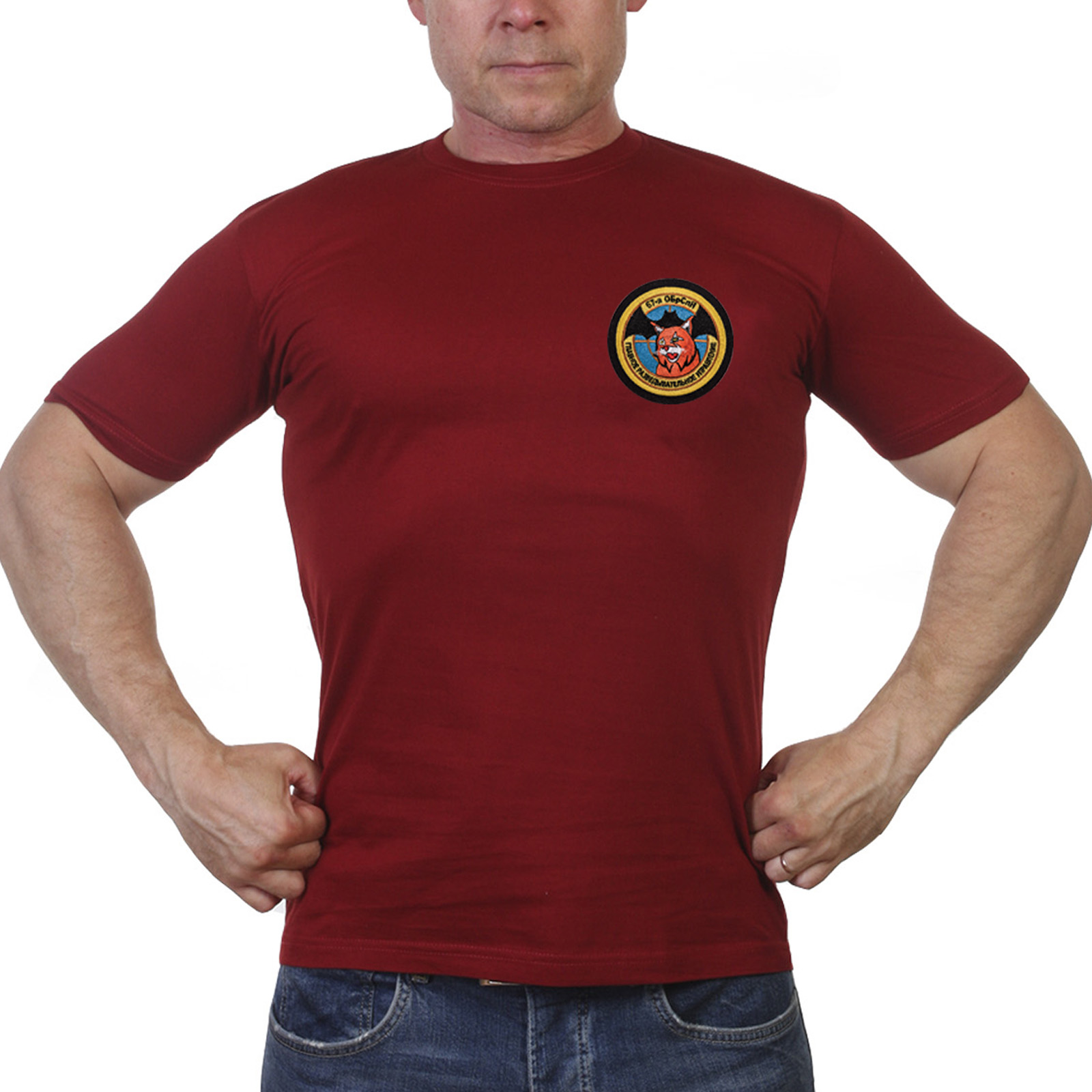 Мужская хлопковая футболка 67 ОБрСпН