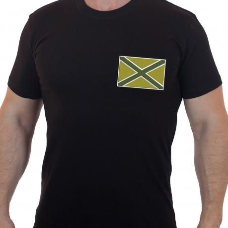 Мужская хлопковая футболка в милитари дизайне Новороссия