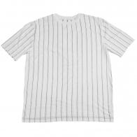Хлопковая футболка с вертикальными полосками